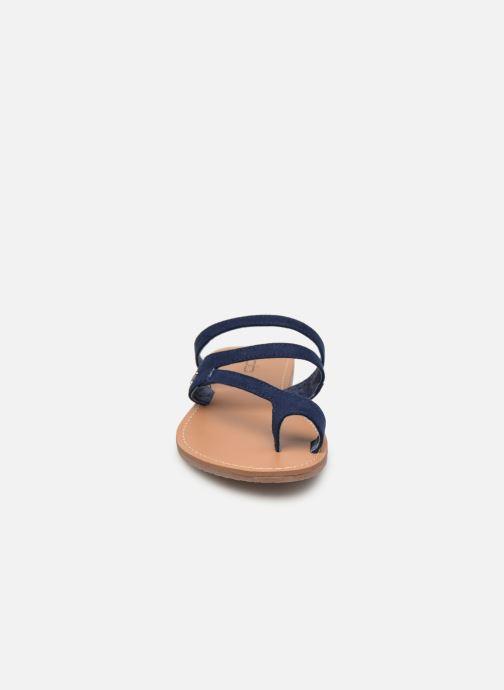 Sandales et nu-pieds Les P'tites Bombes TEXANE Bleu vue portées chaussures