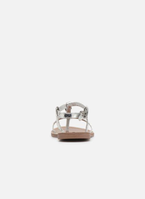 Sandales et nu-pieds Les P'tites Bombes ZHOE Argent vue droite