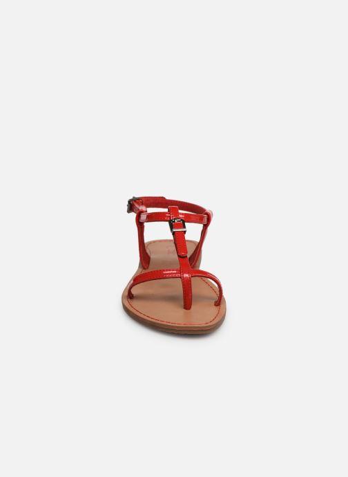 Sandales et nu-pieds Les P'tites Bombes ZHOE Rouge vue portées chaussures