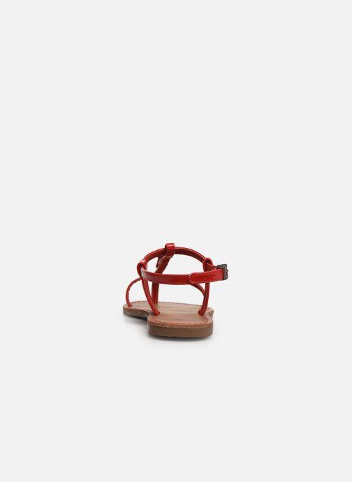 Sandales et nu-pieds Les P'tites Bombes ZHOE Rouge vue droite