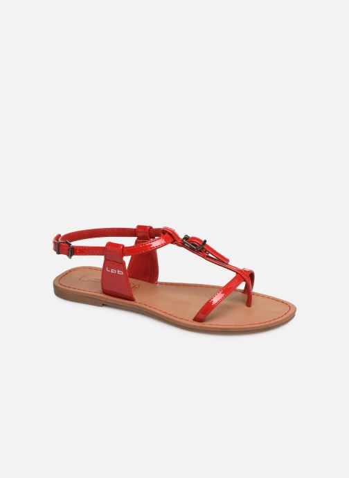 Sandals Les P'tites Bombes ZHOE Red detailed view/ Pair view