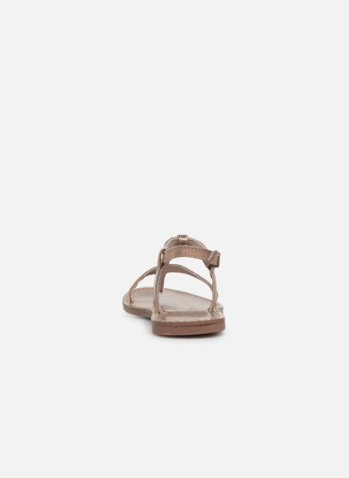 Sandales et nu-pieds Les P'tites Bombes ZHOE Beige vue droite