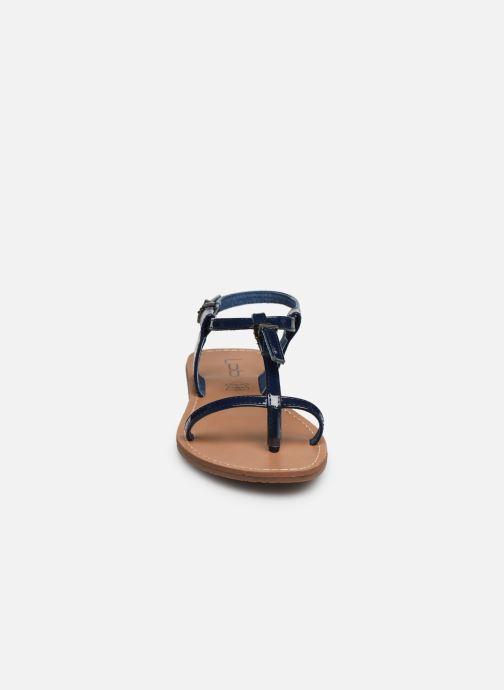 Sandales et nu-pieds Les P'tites Bombes ZHOE Bleu vue portées chaussures
