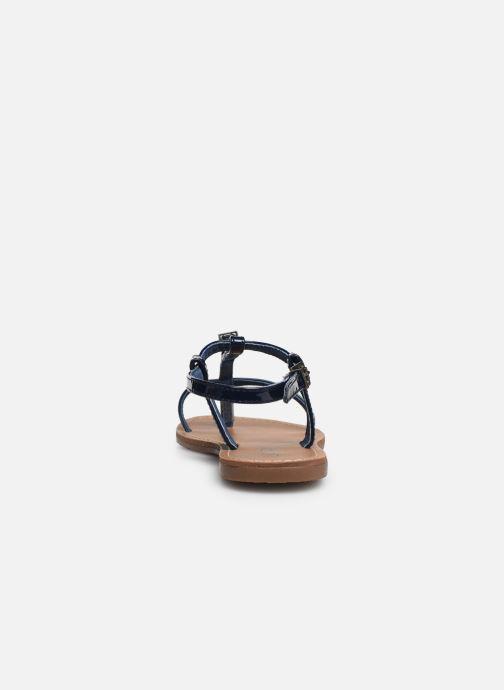 Sandales et nu-pieds Les P'tites Bombes ZHOE Bleu vue droite
