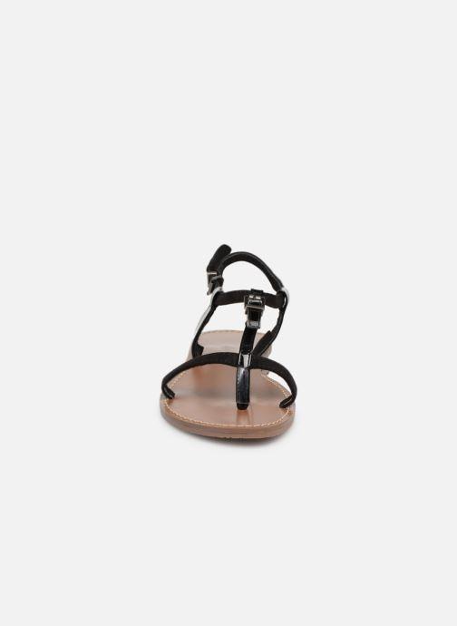 Sandales et nu-pieds Les P'tites Bombes ZHOE Noir vue portées chaussures