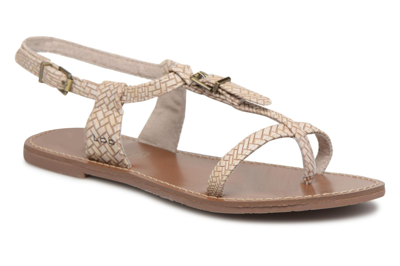 Sandals Les P'tites Bombes Zhoe F Beige detailed view/ Pair view