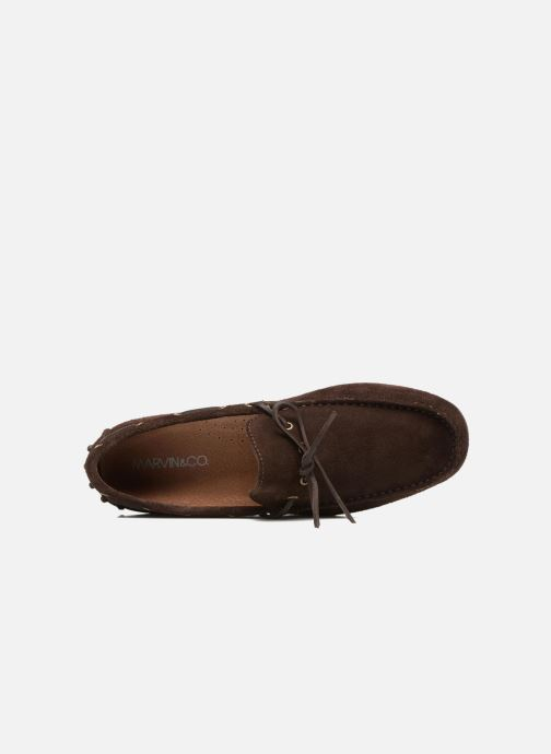 Mocassins Marvin&Co Stalban Marron vue gauche