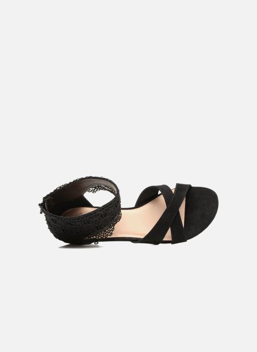 Sandales et nu-pieds Molly Bracken Lila Noir vue gauche