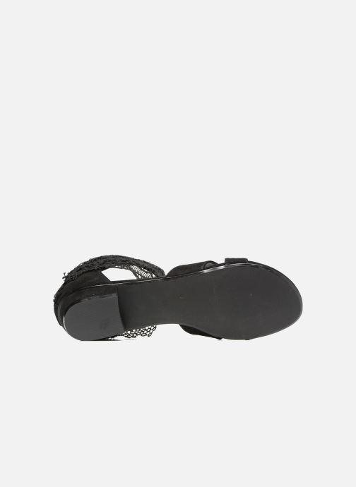 Sandales et nu-pieds Molly Bracken Lila Noir vue haut