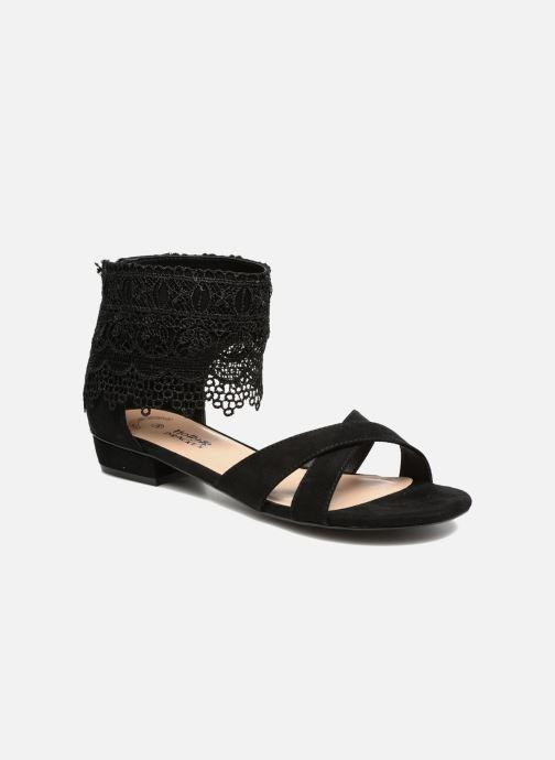 Sandales et nu-pieds Molly Bracken Lila Noir vue détail/paire