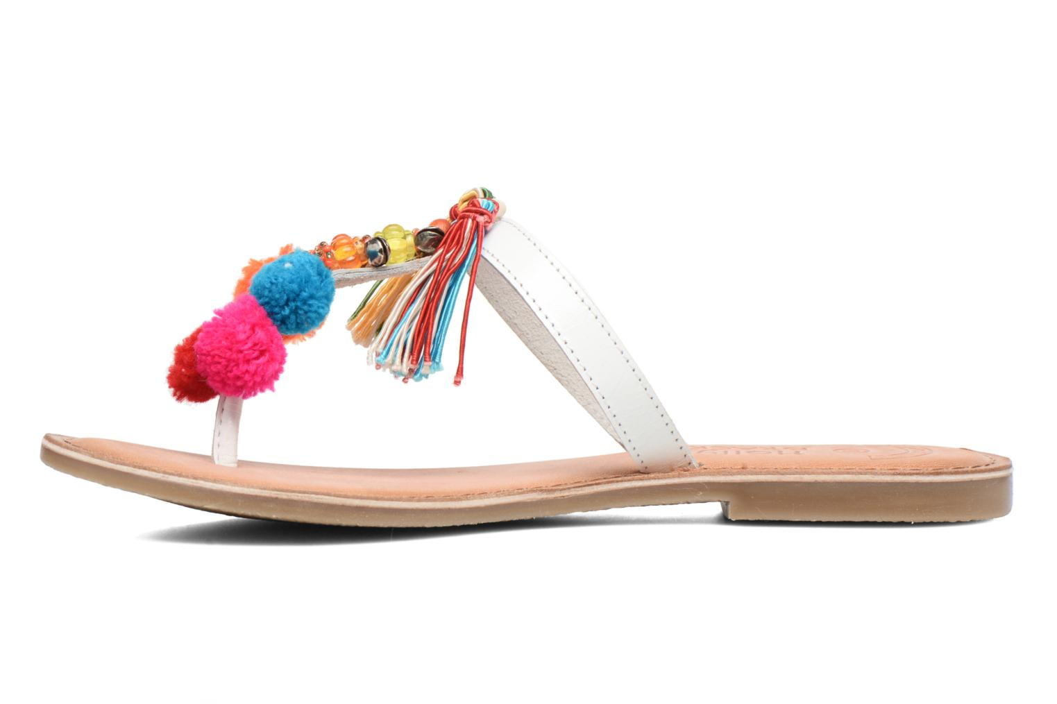 Sandalias Molly Bracken Home Blanco vista de frente