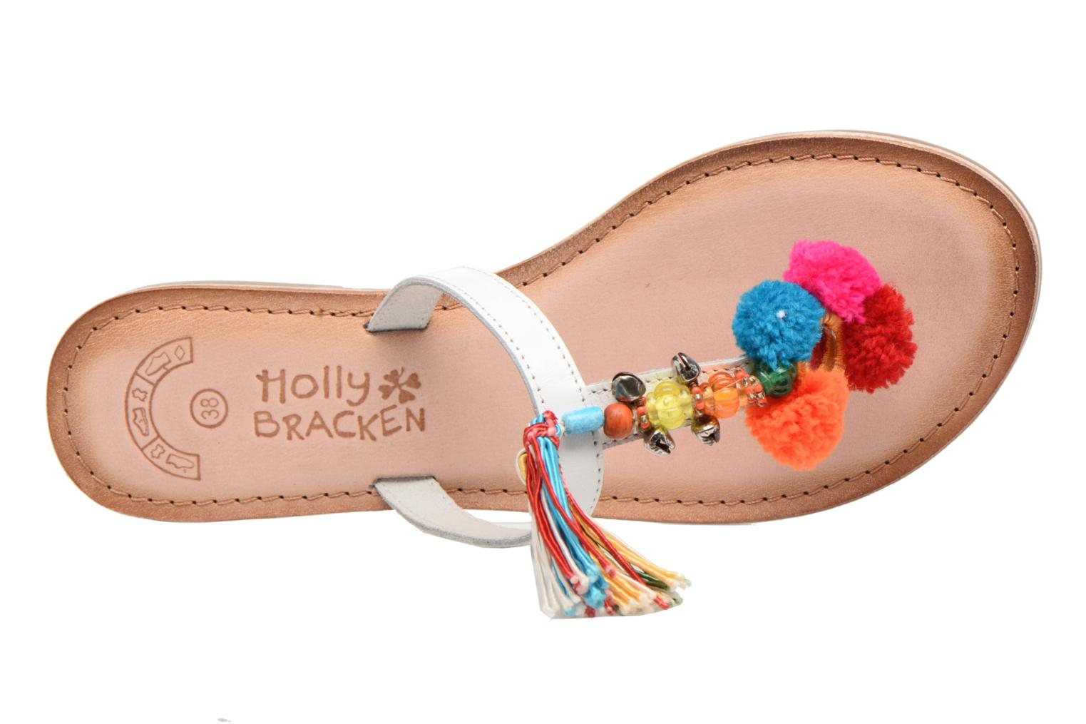 Sandalias Molly Bracken Home Blanco vista lateral izquierda