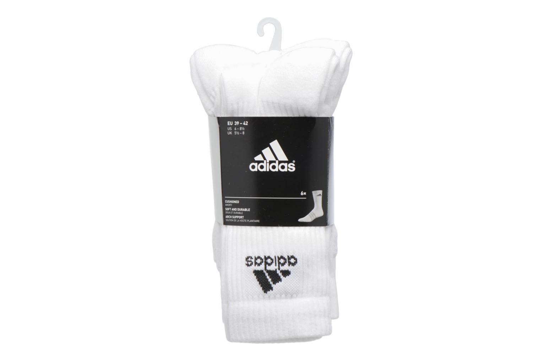 Sokken en panty's Adidas Performance 3S PER CR HC 6P Wit achterkant