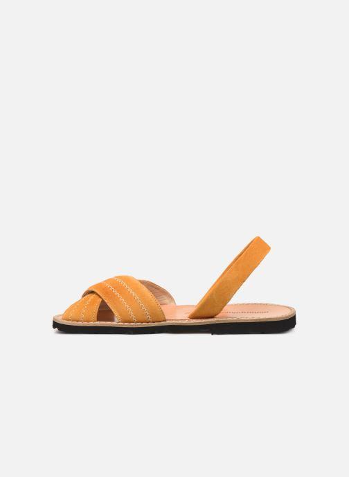 Sandales et nu-pieds MINORQUINES Avarca Berlin Jaune vue face