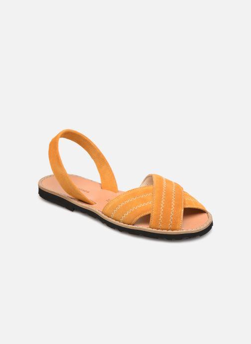 Sandales et nu-pieds MINORQUINES Avarca Berlin Jaune vue détail/paire