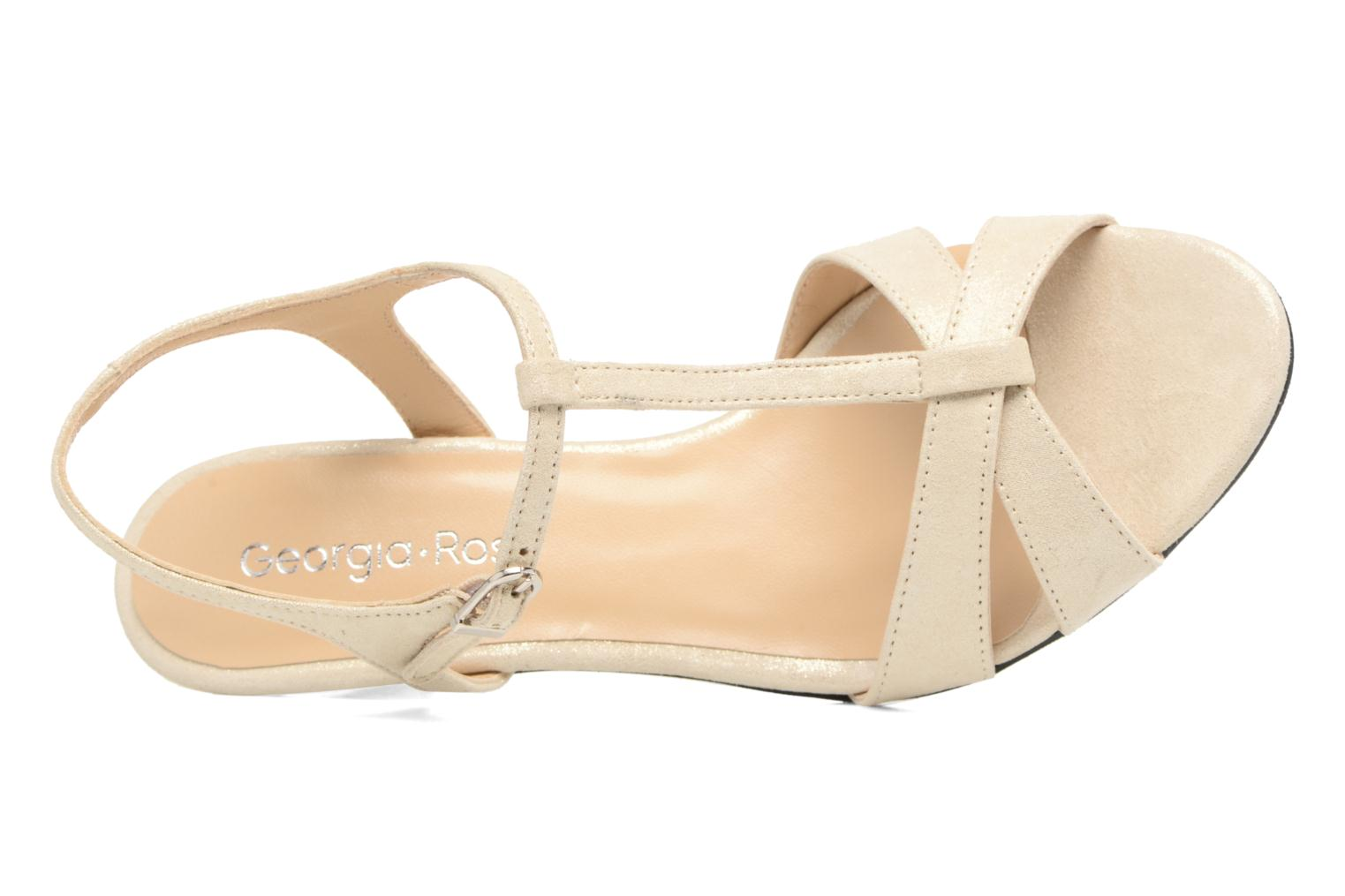 Sandals Georgia Rose Satine Beige view from the left