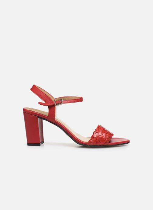 Sandales et nu-pieds Georgia Rose Satresse Rouge vue derrière
