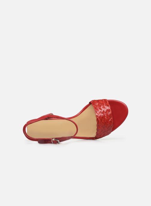 Sandales et nu-pieds Georgia Rose Satresse Rouge vue gauche