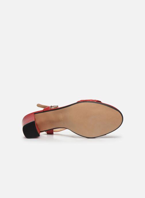 Sandales et nu-pieds Georgia Rose Satresse Rouge vue haut