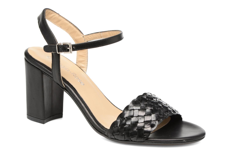 Sandaler Georgia Rose Satresse Sort detaljeret billede af skoene
