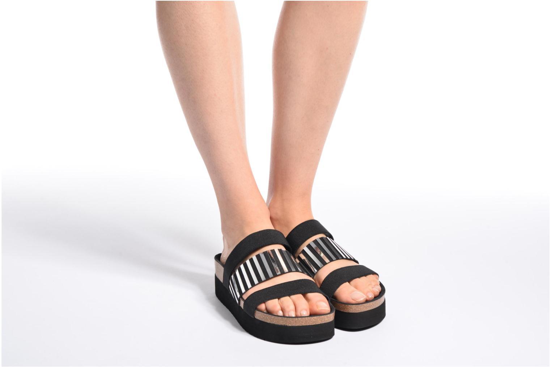 Sandales et nu-pieds Sixty Seven Strie 78844 Noir vue bas / vue portée sac