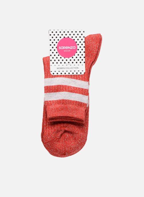 Chaussettes et collants Sarenza Wear Chaussettes lurex Femme Sporty Rouge vue portées chaussures