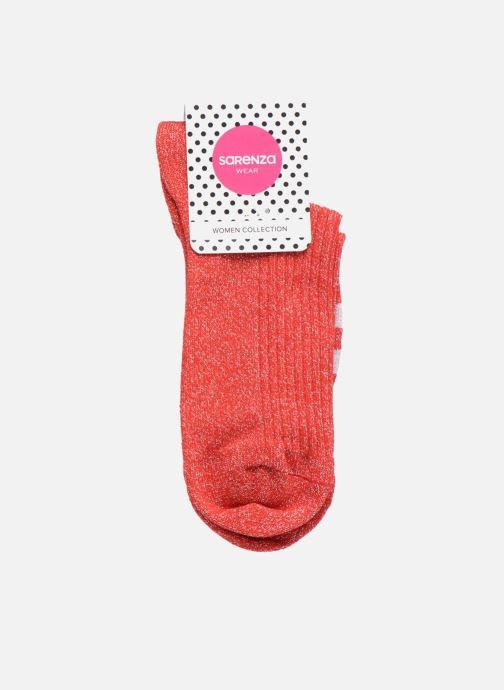 Chaussettes et collants Sarenza Wear Chaussettes lurex Femme Sporty Rouge  vue derrière 53505cb227e1
