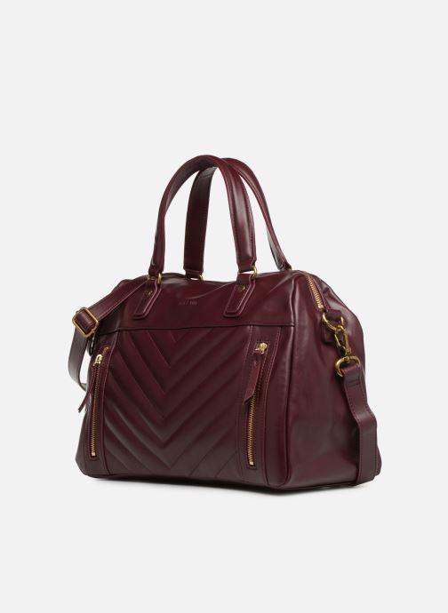 Handtaschen Nat & Nin Panama weinrot schuhe getragen
