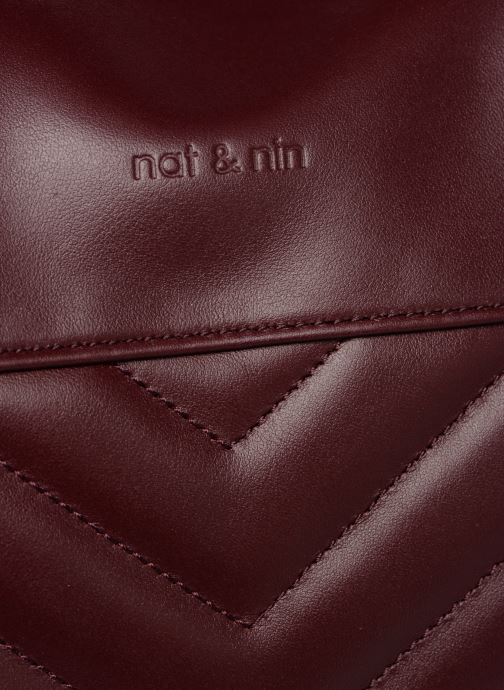 Handtaschen Nat & Nin Panama weinrot ansicht von links