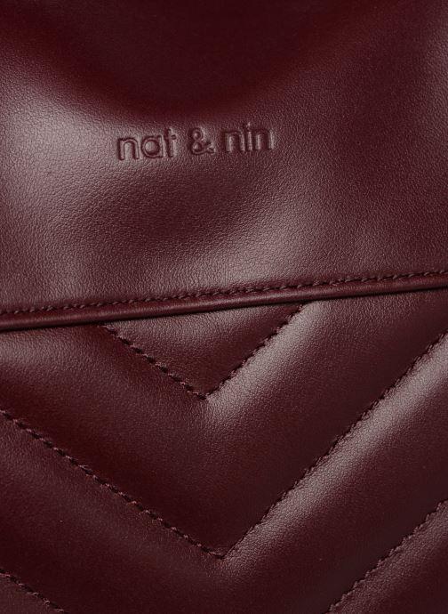 Sacs à main Nat & Nin Panama Bordeaux vue gauche