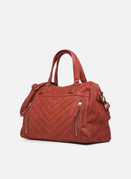 Handtaschen Nat & Nin Panama rot schuhe getragen