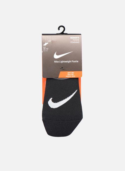 Socks & tights Nike Women's Nike Performance Lightweight Training Footie 3PR Black back view