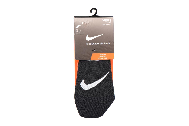 Calze e collant Nike Women's Nike Performance Lightweight Training Footie 3PR Nero immagine posteriore