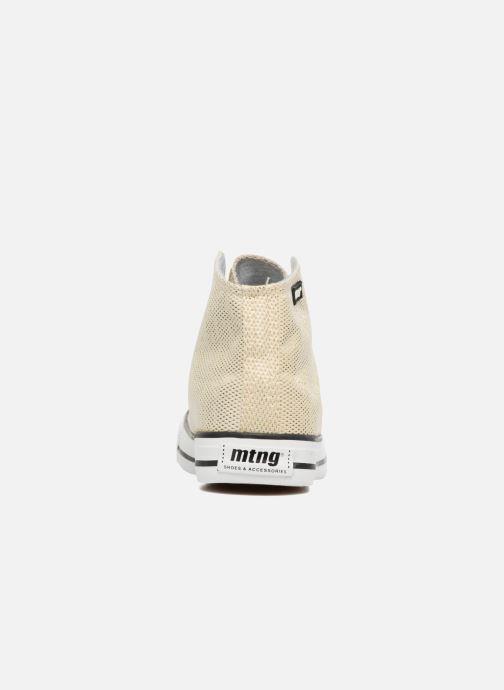 Baskets MTNG Emi 13992 Or et bronze vue droite