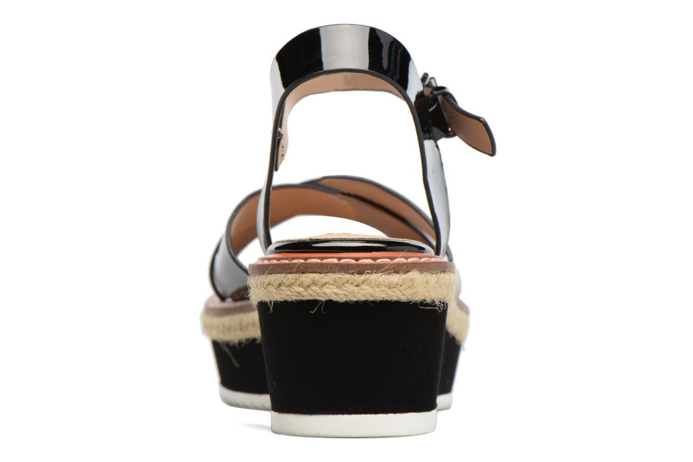 Sandales et nu-pieds MTNG Alexandra 55409 Noir vue droite