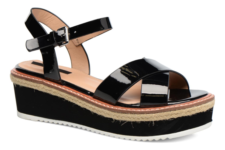 Sandales et nu-pieds MTNG Alexandra 55409 Noir vue détail/paire