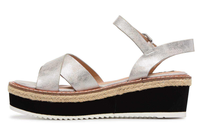 Sandales et nu-pieds MTNG Alexandra 55409 Argent vue face