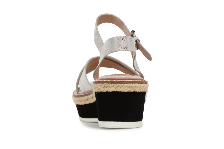 Sandales et nu-pieds MTNG Alexandra 55409 Argent vue droite