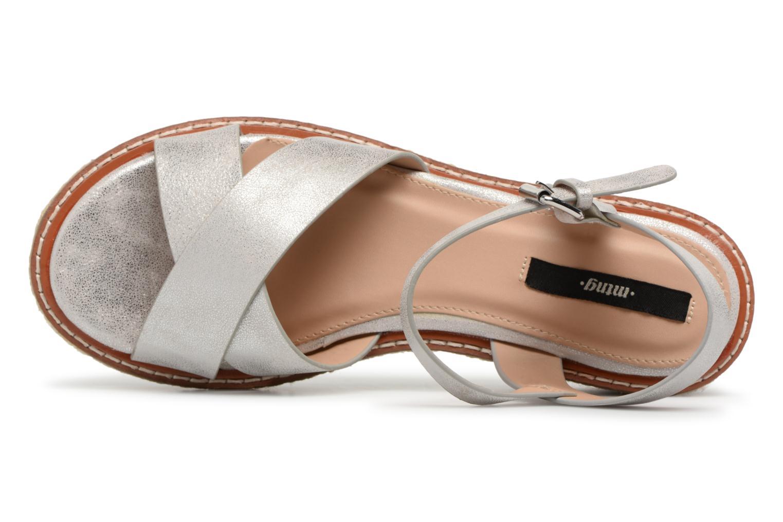 Sandales et nu-pieds MTNG Alexandra 55409 Argent vue gauche