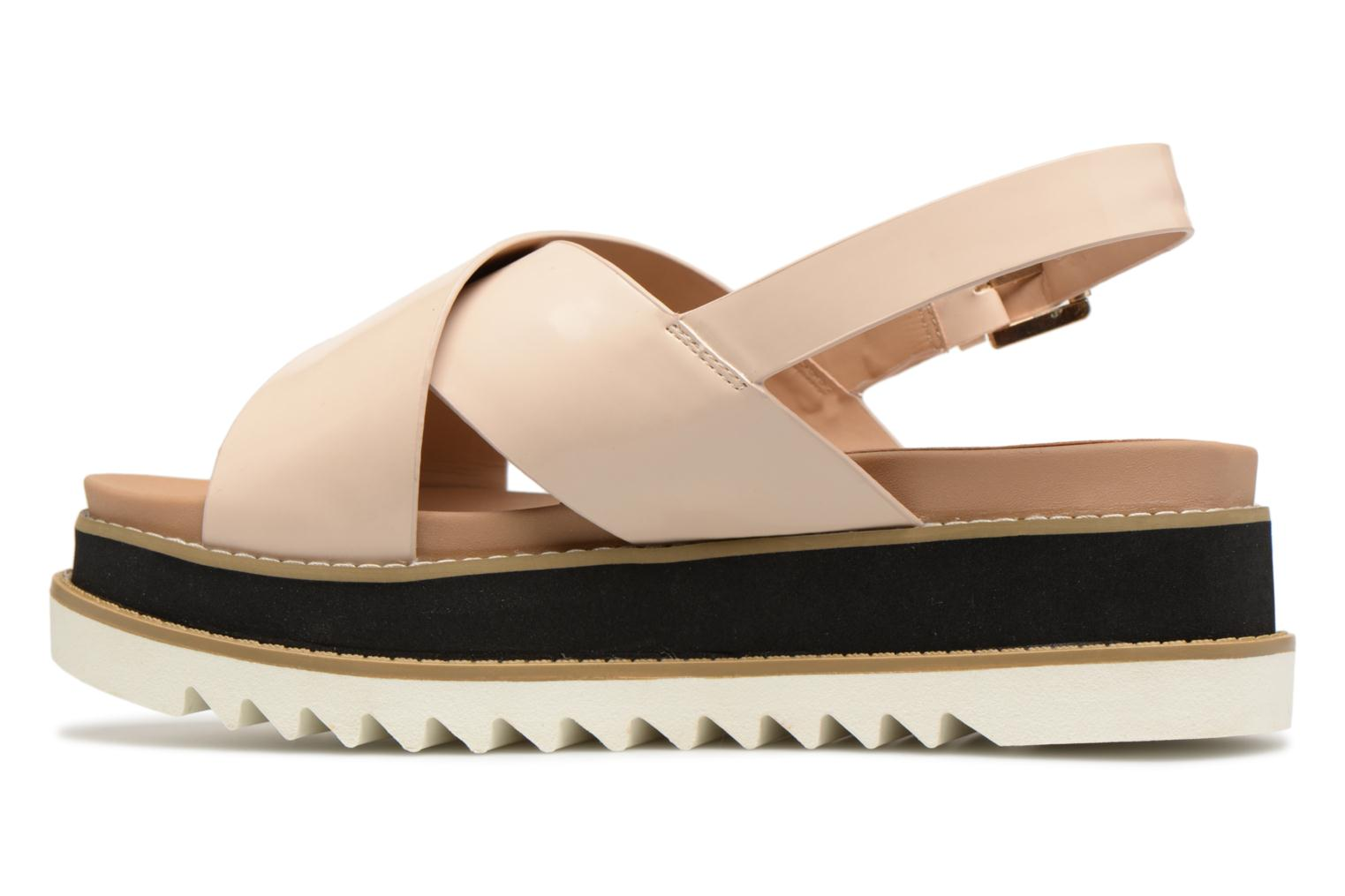 Sandalias MTNG Virginia 50915 Beige vista de frente