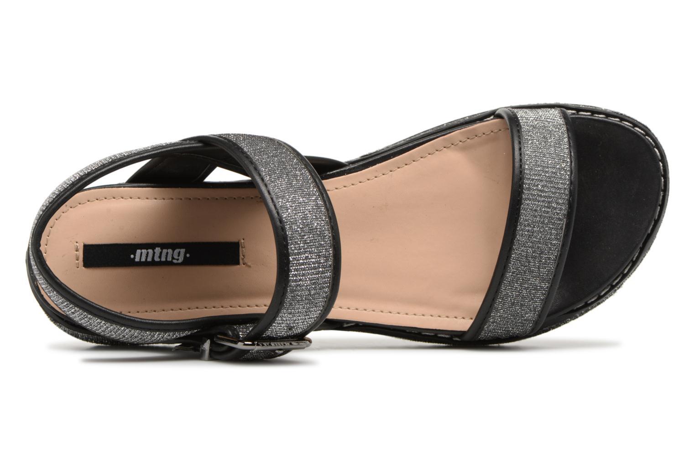 Sandalen MTNG Marguerita 50801 Zwart links