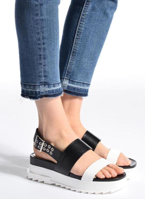 Sandales et nu-pieds Diesel D-Yeletta WS Noir vue bas / vue portée sac