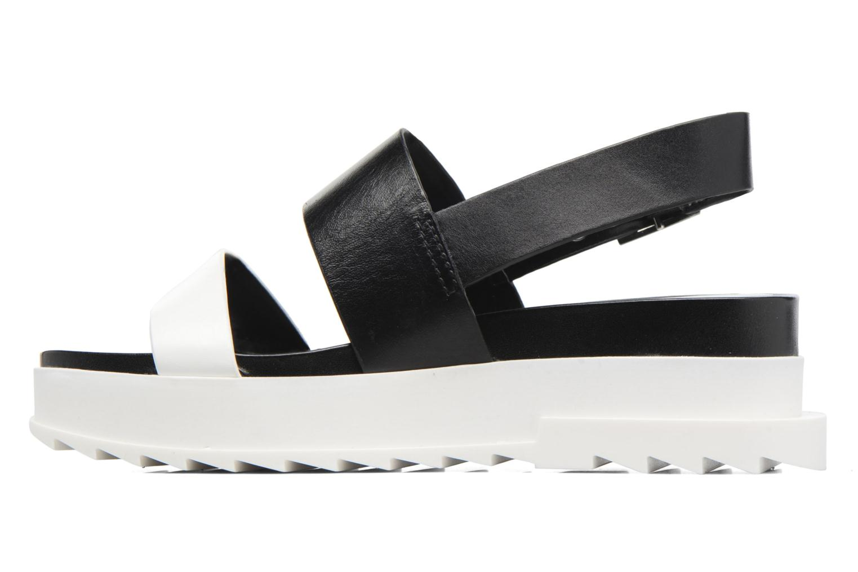 Sandals Diesel D-Yeletta WS Black front view