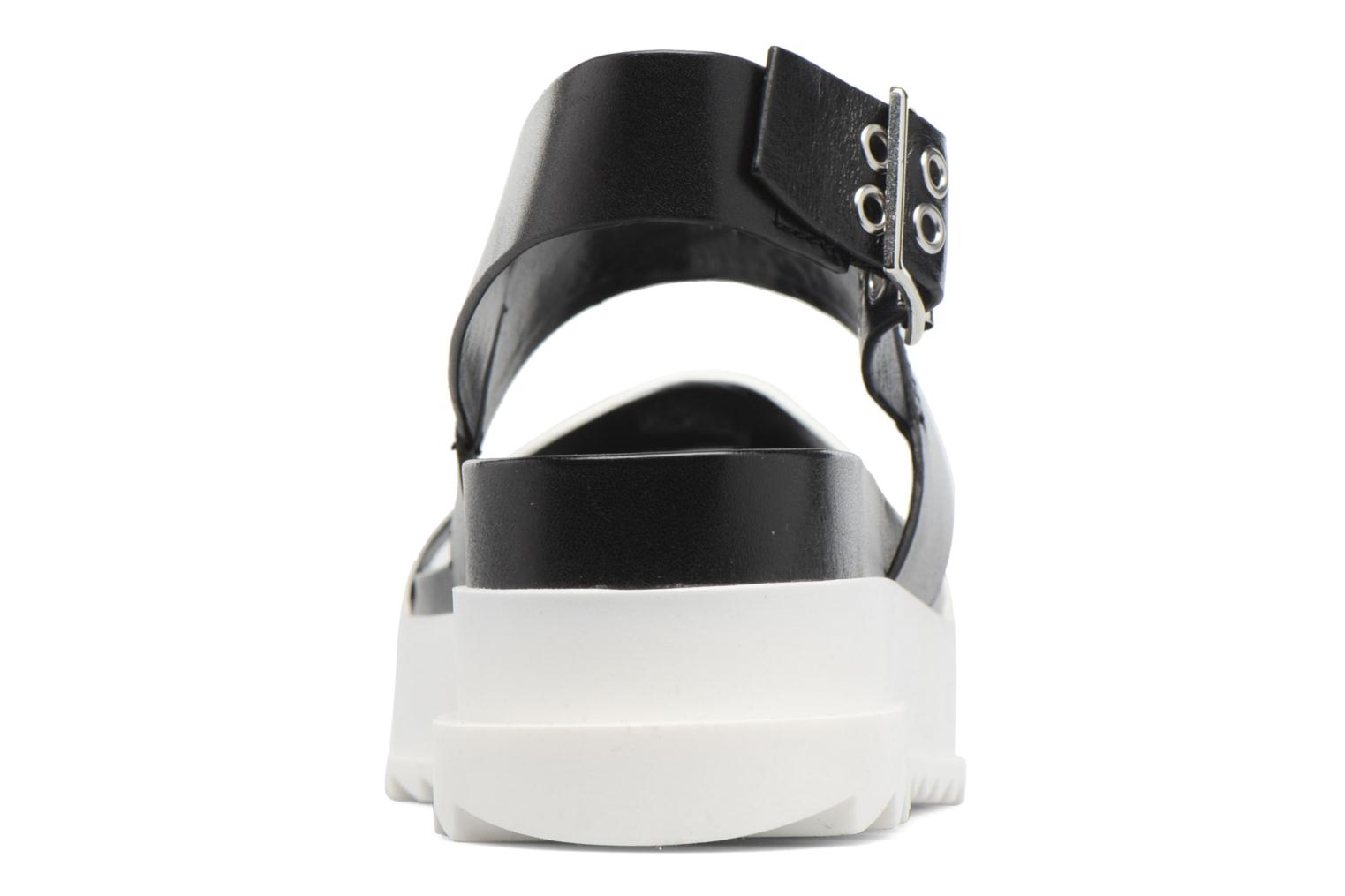 Sandals Diesel D-Yeletta WS Black view from the right