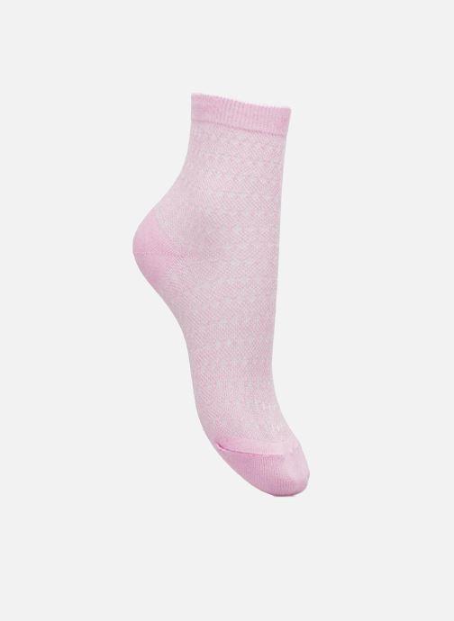 Strømper og tights BLEUFORÊT SOCQUETTES PAILLETTES Pink detaljeret billede af skoene