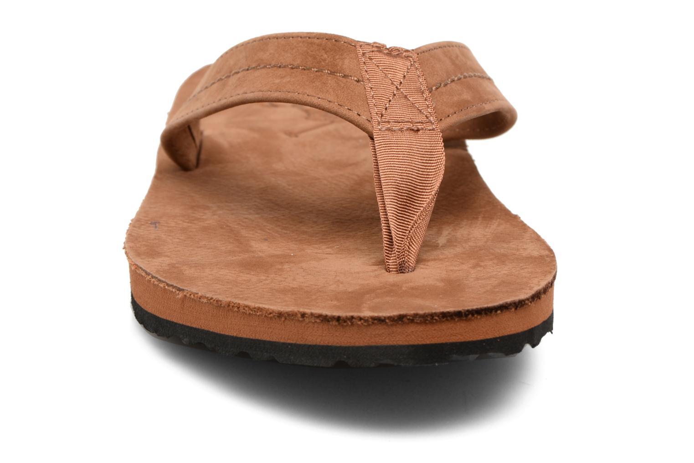 Tongs Polo Ralph Lauren Edgemont Marron vue portées chaussures