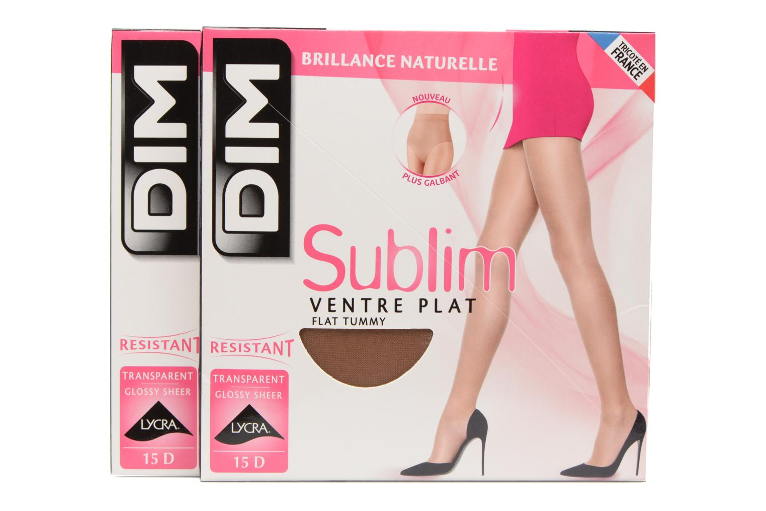 Socks & tights Dim Collants Sublim Ventre Plat pack de 2 Beige detailed view/ Pair view