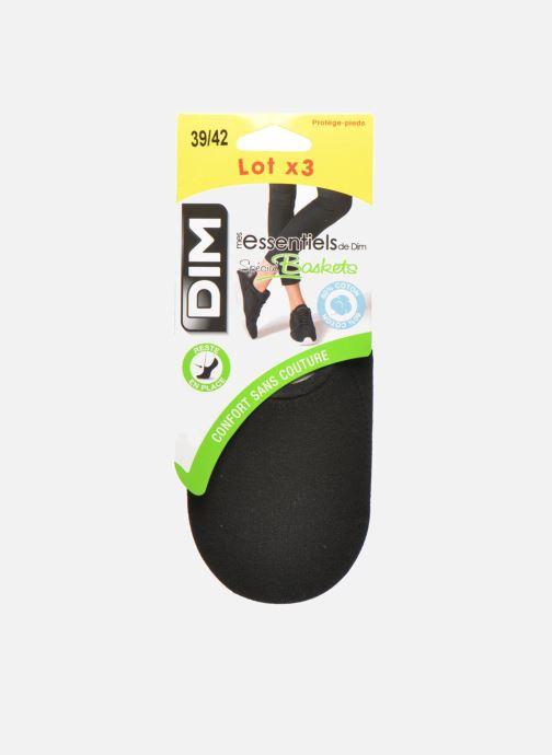 Chaussettes et collants Dim Protèges-Pieds spécial Baskets Lot de 3 Noir vue portées chaussures