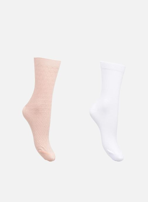 Socks & tights Dim Mi-Chaussette Coton Lurex Lot de 2 Pink detailed view/ Pair view
