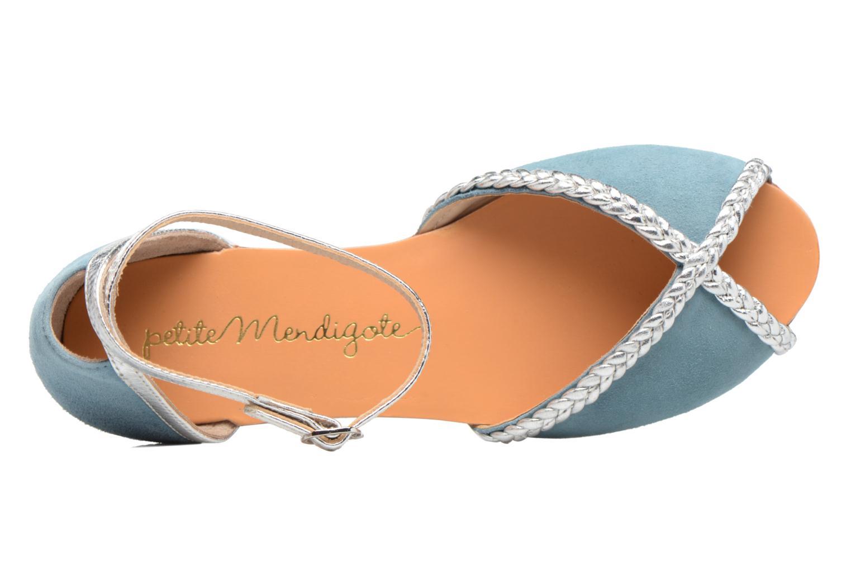 Sandales et nu-pieds Petite mendigote Trefle Bleu vue gauche